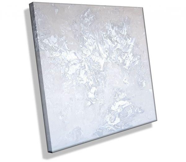 Gemälde Silber WeißAtelier-MK1-Art-Leinwand-Kunst-Abstrakt-Malerei-kaufen-Melanie-Kuntz-Trier-Gemälde-Bild-Bilder-Strukturbild-Leichtstrukturpaste-Acrylfarben-modern-Acryl-Acrylbilder-gemalt-direkt-vom-Künstler-Original-Unikat-Acrylbild-abstraktes-Gemälde
