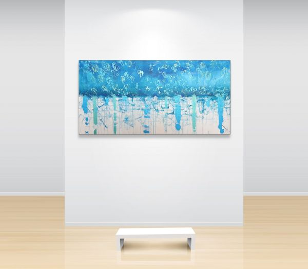 """""""Blues""""-Atelier-MK1-Art-Melanie-Kuntz-Trier-XXL-Kunst-handgemalt-Strukturbild-Leichtstrukturpaste-Acrylfarben-Acrylbilder-Leinwand-moderne-abstrakte-zeitgenössische-Malerei-Originale-Unikate-Bilder-direkt-vom-Künstler-online-kaufen-Galerie-Shop"""