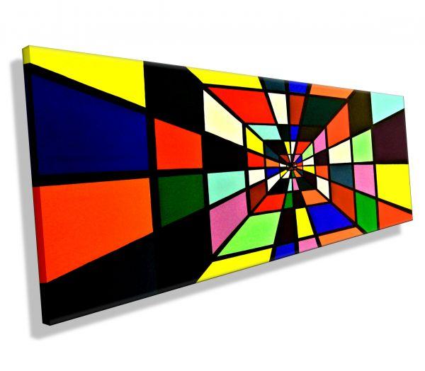 Atelier-MK1-Art-Melanie-Kuntz-Trier-XXL-Kunst-handgemalt-viele-bunte-Farben-Acrylfarben-Acrylbilder-Leinwand-moderne-abstrakte-zeitgenössische-Malerei-Originale-Unikate-Bilder-direkt-vom-Künstler-online-kaufen-Galerie-Shop-Box-lost-in-karos-kariert-tunnel