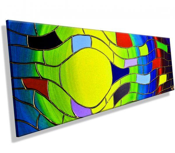 Crazy-Colours-Atelier-MK1-Art-Melanie-Kuntz-Trier-XXL-Kunst-handgemalt-viele-bunte-Farben-Acrylfarben-Acrylbilder-Leinwand-moderne-abstrakte-zeitgenössische-Malerei-Originale-Unikate-Bilder-direkt-vom-Künstler-online-kaufen-Galerie-Shop-neongelb-gelb-grün