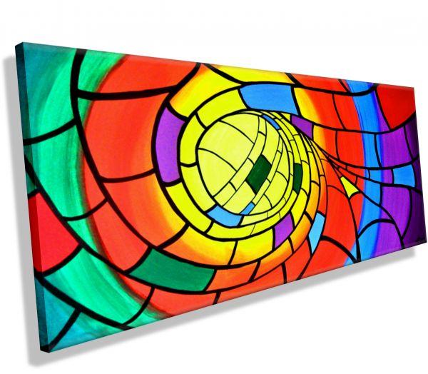 Colour-Helix-Atelier-MK1-Art-Melanie-Kuntz-Trier-XXL-Kunst-handgemalt-viele-bunte-Farben-Acrylfarben-Acrylbilder-Leinwand-moderne-abstrakte-zeitgenössische-Malerei-Originale-Unikate-Bilder-direkt-vom-Künstler-online-kaufen-Galerie-Shop--neongelb-gelb-lila