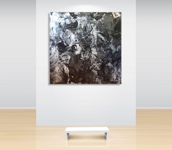 Wohnzimmer-weiße-Wand-weiße-Couch-Sofa-Atelier-MK1-Art-Leinwand-Kunst-Abstrakt-Malerei-kaufen-Melanie-Kuntz-Trier-Gemälde-Bild-Bilder-Strukturbild-Leichtstrukturpaste-Acrylfarben-modern-Acryl-Acrylbilder-gemalt-direkt-vom-Künstler-Original-Unikat-Acrylbil