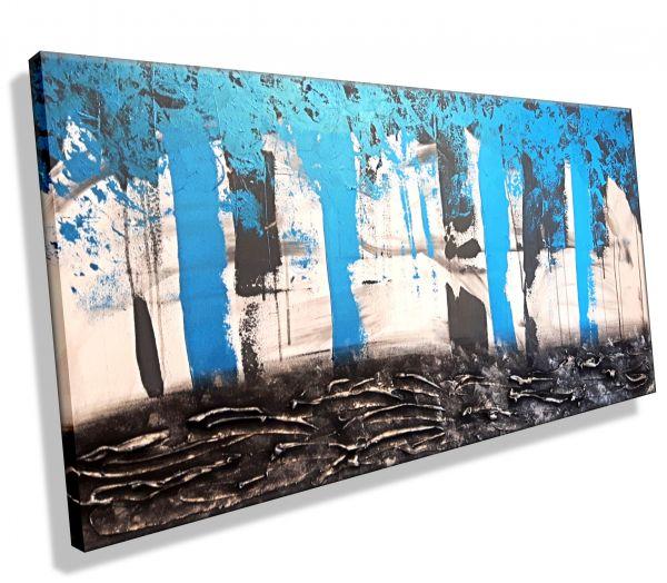 """""""Panorama in Blau""""-Atelier-MK1-Art-Melanie-Kuntz-Trier-XXL-Kunst-handgemalt-Strukturbild-Leichtstrukturpaste-Acrylfarben-Acrylbilder-Leinwand-moderne-abstrakte-zeitgenössische-Malerei-Originale-Unikate-Bilder-direkt-vom-Künstler-online-kaufen-Galerie-Shop"""