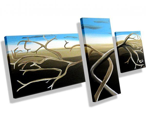 Gemälde 3-teilig 160 x 80 x 1,8 cm # 96