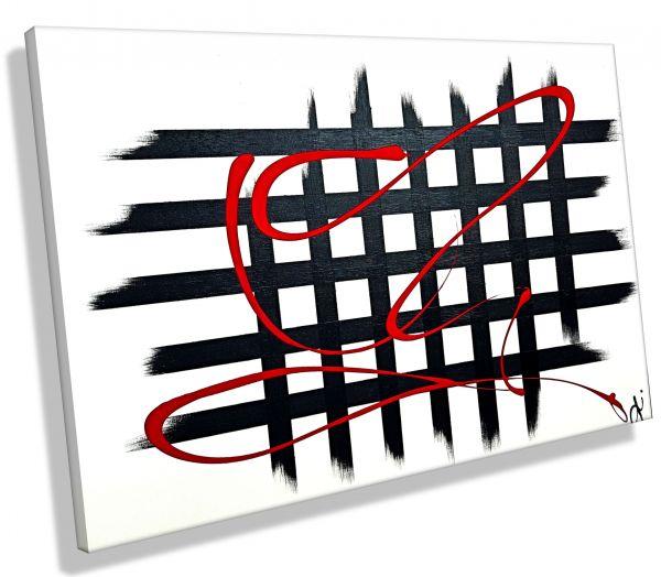 Atelier-MK1-Art-Melanie-Kuntz-Trier-XXL-Kunst-handgemalt-viele-bunte-Farben-Acrylfarben-Acrylbilder-Leinwand-moderne-abstrakte-zeitgenössische-Malerei-Originale-Unikate-Bilder-direkt-vom-Künstler-online-kaufen-Galerie-Shop-schwarz-weiß-caros-quadrate-nega