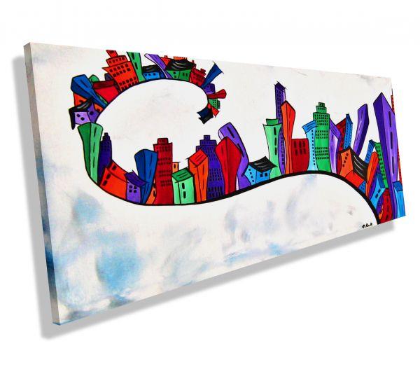 Funny-Town-Atelier-MK1-Art-Melanie-Kuntz-Trier-XXL-Kunst-handgemalt-viele-bunte-Farben-Acrylfarben-Acrylbilder-Leinwand-moderne-abstrakte-zeitgenössische-Malerei-Originale-Unikate-Bilder-direkt-vom-Künstler-online-kaufen-Galerie-Shop-bunt-Häuser-Skyline-r